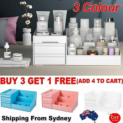 AU15.99 • Buy Makeup Cosmetic Organiser Jewelry Storage Gift Box Drawer Case Cabinet Au Stock