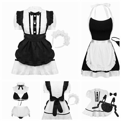 $ CDN27.41 • Buy Women's Halloween French Maid Fancy Costume Adults Maid Cosplay Dress Outfits