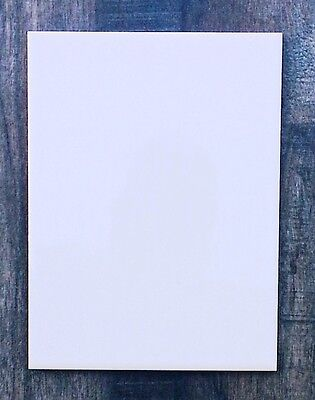 15 X 20cm (8 X6 ) Ceramic Plain Flat Gloss White Wall Tiles SAMPLE / LOOSE • 3£