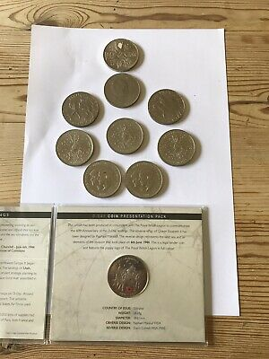 £9.99 • Buy Set 11 Crown Coins - 1953/1965/1972/1977/1980/1981/2004 D-Day In Cover