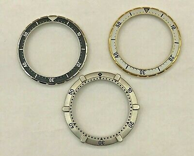 $ CDN250 • Buy 3 Lot Of BEZELS For TAG HEUER 2000 Series CHRONOGRAPHS. Parts