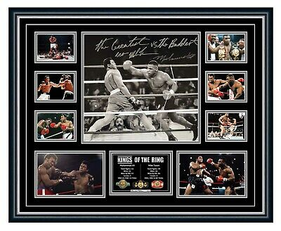AU99.99 • Buy Muhammad Ali & Mike Tyson Signed Photo Poster Limited Edition Framed Memorabilia