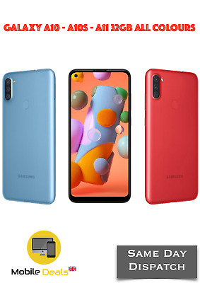 New Samsung Galaxy A10 - A10S 32GB 4G LTE Unlocked DualSIM Android Smartphone  • 118.99£