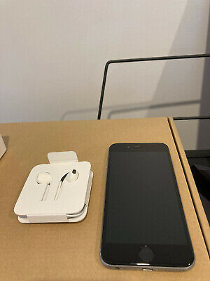 AU100 • Buy Used Apple IPhone 6 - 64GB - Space Grey A1586 W/ New Earbuds