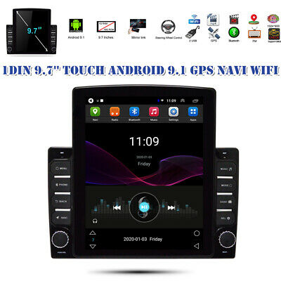 $229.59 • Buy 9.7'' 1DIN Touch Pad Android 9.1 12V Car Stereo Radio GPS Navi WIFI Player 1+16G