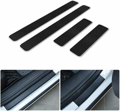 $11.34 • Buy For BMW Car Door Sill Carbon Fiber Scuff Cover,Entry Stickers Black+3 Color 4pc