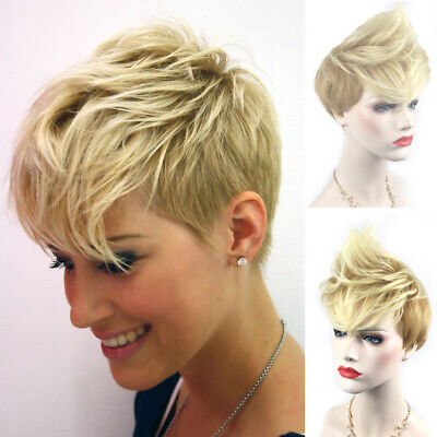 £11.49 • Buy Fashion Short Pixie Wig Blond Synthetic Hair Wigs Natural Real Brazilian Cosplay