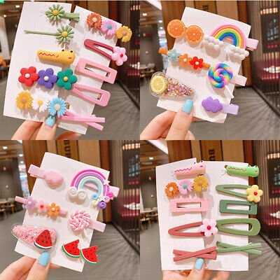 $ CDN3.53 • Buy Hair Clips For Girls Kids For Toddlers Snap Hair Accessories Bows Barrettes