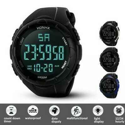 £7.99 • Buy Mens Military Sports LED Large Face Digital Watch Screen Large Face Waterproof