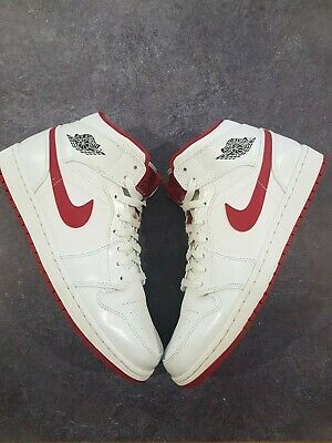 AU86 • Buy Nike Air Jordan 1 Retro Mid WHITE GYM RED Size 11.5 US (pre Owned) Sneakers