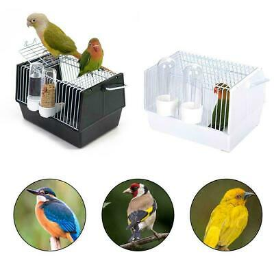 Bird Cage Portable Parrot Travel Canary Carrier Food Feeders Handle SALE 55% OFF • 22.99£