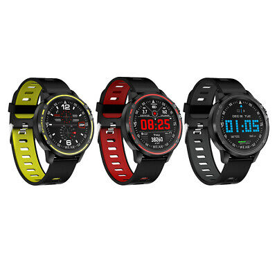AU48.94 • Buy L8 Touch Screen Smart Watch Mens Fitness Tracker ECG PPG Heart Rate Monitor IP68