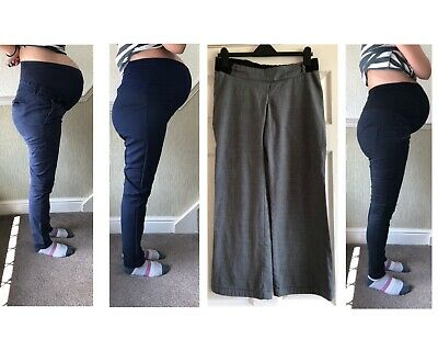 Maternity Trousers Bundle H&M, Boohoo, George, Mothercare (size 8-10) • 10£