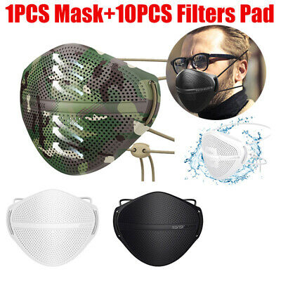 $ CDN17.99 • Buy Reusable Washable Camouflage Camo Face Mask Covering 2 PM2.5 Carbon Filters