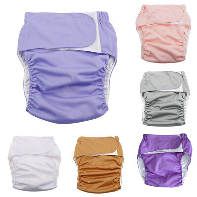 AU21.50 • Buy KF_ Reusable Adult Cloth Diaper Nappy Pants For Incontinence Bedwetting Trendy
