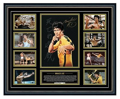 AU99.99 • Buy Bruce Lee Legend Signed Photo Poster Framed Limited Edition Memorabilia