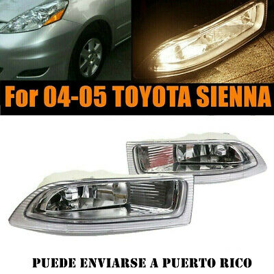 $44.85 • Buy Pair Of LH RH Front Fog Driving Lamp Light Clear Lens For 04 05 Toyota Sienna