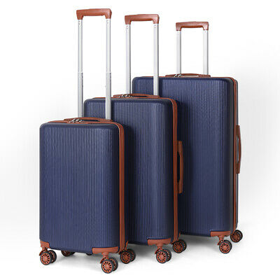 """View Details 3PC 20/24/28"""" Hardside Expandable Luggage Case With Spinner Wheels Blue Suitcase • 86.00$"""