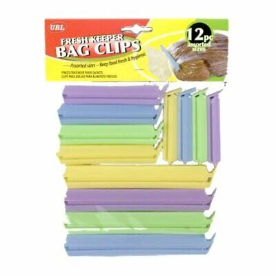 12 Food Bag Pouch Clips Tie Plastic Storage Sealing Fridge Freezer Pegs • 2.99£
