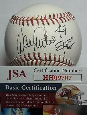 $ CDN132.04 • Buy Jsa Montreal Expos #49 Warren Cromartie Signed Baseball Rawlings Mlb Ball Auto