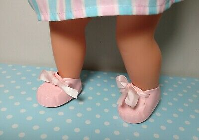 Tiny Tears Shoes Size 1M To Fit 16  Tiny Tears Doll ~ Pink Cinderella Shoes • 4.50£