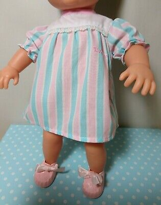 Tiny Tears Dress & Pink Cinderella Doll Shoes Size 1M To Fit 16  Tiny Tears Doll • 12£