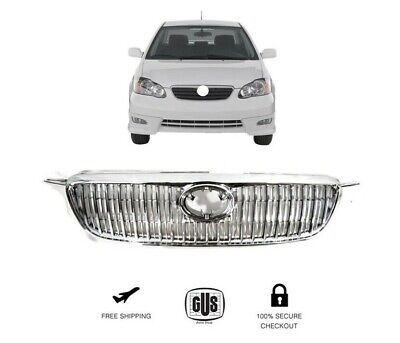 $118 • Buy For Toyota Corolla 2003 2008 Front Bumper Grill Chrome Altis JDM Style