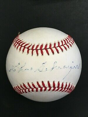 $ CDN1.31 • Buy Charles Gehringer Autographed Bobby Brown American League Baseball Light Toning