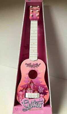 New Kids Children Guitar Pink Castle 23  Musical Instrument Toy Uk Seller • 14.99£