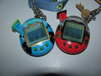 AU300 • Buy Tamagotchi Blue & Red V5 Bandai 2004 With Lanyards As Shown Working Pre Loved