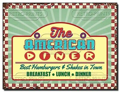 £4.95 • Buy American Diner Vintage Style Metal Wall Sign Retro Art Print Kitchen Cafe