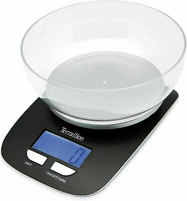 Terraillon Kitchen Scales With Bowl Tare Liquid Conversions, 5 Kg Capacity Black • 8£