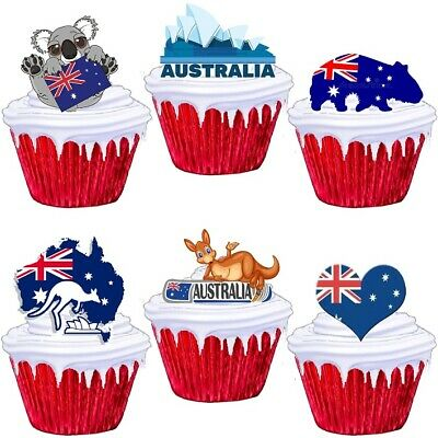 £1.99 • Buy Australia Aussie Themed Stand Up Cup Cake Toppers Edible Party Decorations