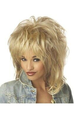 Adult Womens Blonde 1980s Dolly Parton Wig Tina Turner Costume Accessory • 16.91£