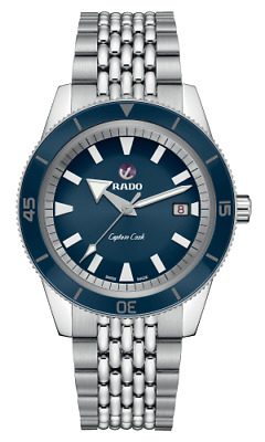$ CDN1985 • Buy New RADO Captain Cook Automatic Stainless Steel Blue Dial Men's Watch R32505203