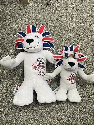 London 2012 Olympics Pride The Lion Mascot Cuddly Plush Soft Toy X 2 • 4.90£