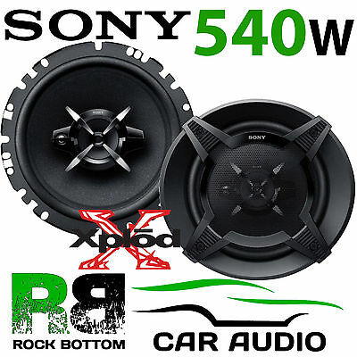 Ford Focus MK3 2010 - 2019 SONY 540 WATTS 17cm 3 Way Front Door Car Speakers Kit • 59.99£