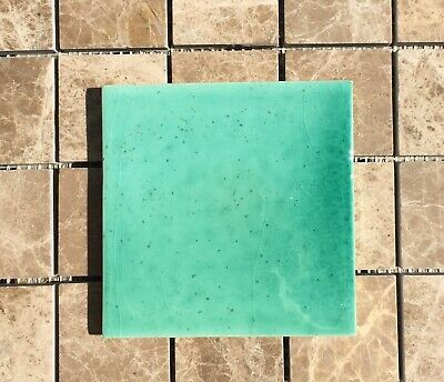 Aquamarine Hand Made Hand Glazed Wall Tile 11x11cm From Provence France • 2£