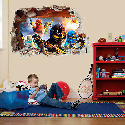 3D Lego Ninjago Movie Large Friends VINYL WALL STICKER DECALS CHILDREN 198 • 17.50£
