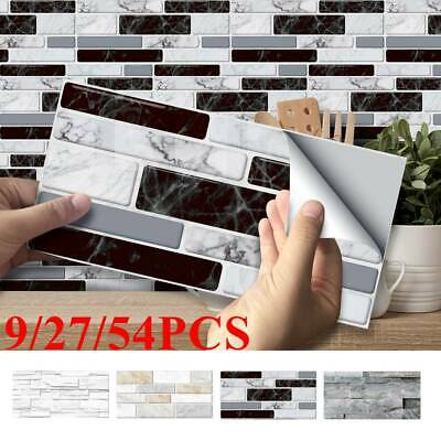 Kitchen Mosaic Sticker Tile Stickers Bathroom Self-adhesive Wall Home Decor DIY • 6.99£