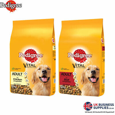 £28.23 • Buy Pedigree Complete Dry With Beef Or Chicken And Vegetables Dry Dog Food 12kg