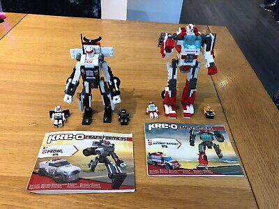 Kre-o Transformers Autobot Ratchet & Prowl With Minifigures Instructions 20 Cms • 16.99£
