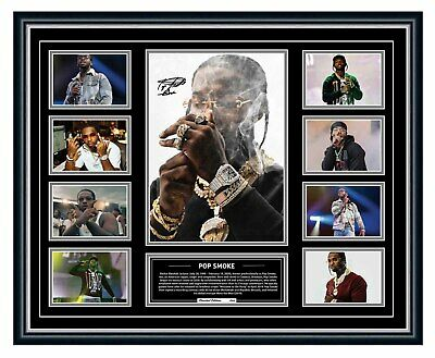 AU99.99 • Buy Pop Smoke Tribute 1999-2020 Signed Limited Edition Framed Memorabilia