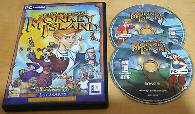 ESCAPE FROM MONKEY ISLAND For PC CD-ROM COMPLETE & IN VGC • 4.99£