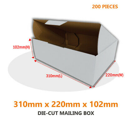 AU144.95 • Buy 200x Die Cut Mailing Box 310 X 220 X 102 Mm Fit BX2 Extra Large Letter Shipping