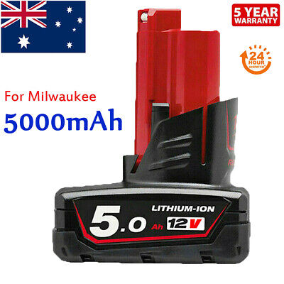 AU30.99 • Buy M12 For Milwaukee Lithium Ion XC 6.0 Extended Capacity Battery 5.0Ah 48-11-2460
