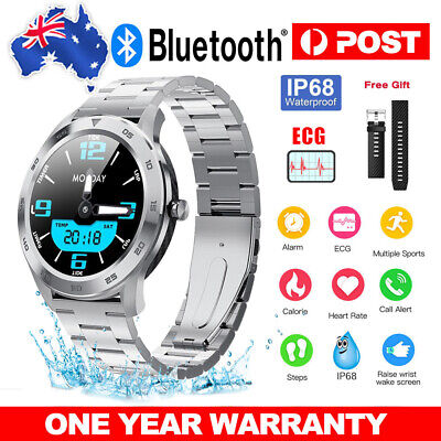 AU76.59 • Buy Smart Watch Bluetooth Call ECG Heart Rate Blood Pressure IP68 For IOS Android AU