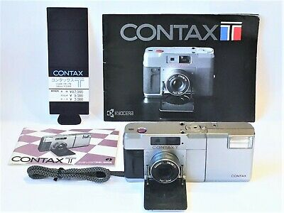 $ CDN337.43 • Buy UPS✈ [FLASH Works! As Is] CONTAX T Rangefinder 35mm Film Camera W T14 From JAPAN