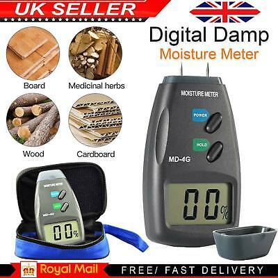 4-Pin Digital Moisture Meter PRO Damp Detector Timber Wood Tester Plaster Sensor • 11.07£