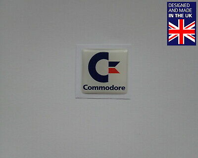 Commodore 25 X 25mm 1  Domed PC Case Badge Logo Decal Amiga MAX C64GS 64 CD32 • 3.75£